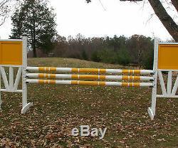 Cheval Sauts 3-12ft 3 / Stripe Cut Rails Bois 1 Couleur Du Cheval Tack