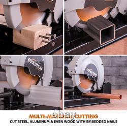 Chop Saw Outil Polyvalent Coupe Acier Aluminium Bois Plastique 10 Amp 7-1/4 En