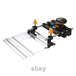Chrome Plated Router Track Fence Kit- Strong Precision Guide Rail Table Plate