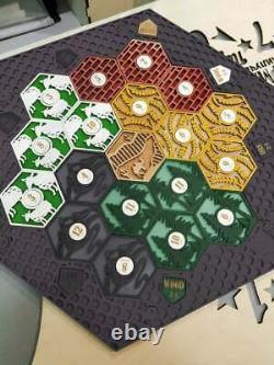 Colons De Catan Board 3-4 Joueurs Complets. Gris Foncé. Custom, Bois, Coupe Laser