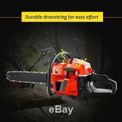 Coocheer 20 58cc Essence Chainsaw Machine De Découpage De La Chaîne Bois Gaz Scie 2t @