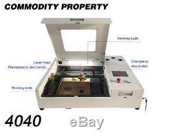 Découpeuse De Gravure De Laser De Co2 4040 40w 400400mm Pour L'acrylique En Cuir En Bois