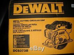 Dewalt Dcs373b 20v Max Lithium Ion 5-1 / 2 Circulaire De Coupe Scie À Métaux Nouveau