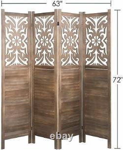Double Partageur De Chambre À Charnières Maison De L'écran De Protection De La Vie Privée Floral Cut-out Pliant 4 6 Panneaux