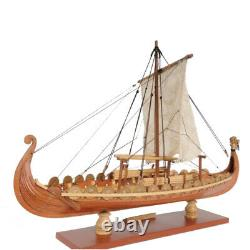 Drakkar Dragon Viking Sailboat Ship Assemblage Model Kit, Bricolage Au Bois Coupé Au Laser, Jouet