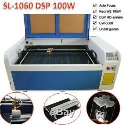 Dsp1060 100w Co2 Coupe Usb Laser Machine Mise Au Point Automatique Dsp Graveuse Chiller