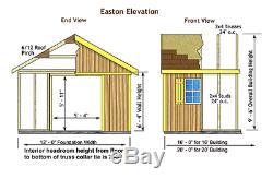 Easton1216 Kit De Grange De Rangement En Bois Préfabriqué Ezup Best Granges De 12 X 16 Pi Préfabriqué