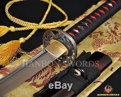 Épée De Samouraï Japonais Katana 1060 - Lame Pleine En Acier Au Carbone Haute En Carbone Pouvant Couper Un Arbre