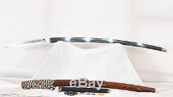 Épée Japonaise De Coupe Lourde En Acier Au Carbone Trempé D'argile 1095 Katana O-kissaki