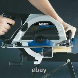 Evolution Power Tools Evosaw180hd, 180mm Tct Industrial Circular Saw, Cuts Steel