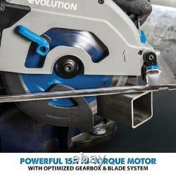 Evolution S185ccsl 7-1/4 Scie Circulaire De Coupe Métallique Avec Lame En Acier Doux