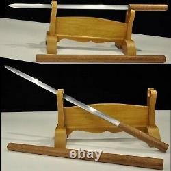 Fait Main T1095 Acier Chinois Shirasaya Rosewood Jian Épée Coupée Bambou Sharp