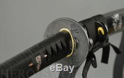 Forgde Main T1095 Acier Au Carbone Katana À La Main Les Arbres Coupés De L'épée Japonaise