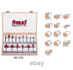 Freud 15 Piece Advanced Bit Set (1/4 Shank) (90-100)