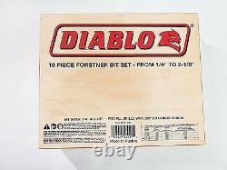 Frud Fb-100 Diablo 16 Pièces Forster Bit Set 1/4 Pouces À 2-1 / 8 Pouces