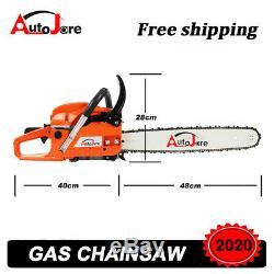 Gaz Chainsaw 2 Cycle Bois Coupe Chaîne Essence Saw Équipement Extérieur De L'outil