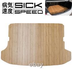 Grain De Bois De Sickspeed Cut Personnalisé Bamboo Trunk Tapis De Plancher Pour Wrx Sti Hatchback