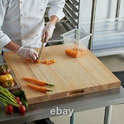 Grande Planche À Découper De Restaurant De Bois 24x24x1.75 Cuisine Commerciale De Bloc De Boucher