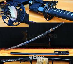 Handmade Japanese Samurai Sword Katana Plie En Acier Lame Coupe Tatami Sharp Can