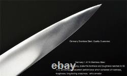 Haut De Gamme Japonais Yanagiba Sashimi Knife Asian Sushi Salmon Trancher Pleine Coupe Tang