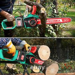 Hychika 40v Max Chainsed Chainsaw Wood Coupe Faible Kickback Chains Saw Us