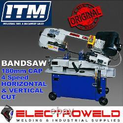 Itm Bandsaw, 180mm Capacité 4 Vitesse De Coupe Horizontale Et Verticale Tableau Ue712a
