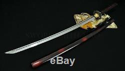 Japonais Samurai Handmade Katana Épée Pleine Tang 1060 En Acier Au Carbone Can Arbres Coupés