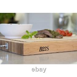 John Boos Block Rafr2418 24 X 18 Edge Grain Maple Wood Réversible Cutting Board