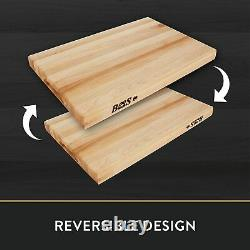 John Boos R2418 24 X 18 Edge Grain Maple Wood Reversible Cutting Board Bloc