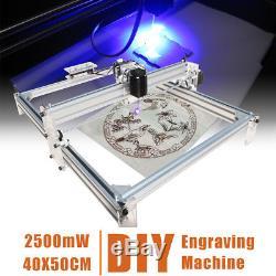 Kit En Bois De Zone De L'imprimante Diy 40x50cm De Découpeuse De Gravure De Laser De 2500mw