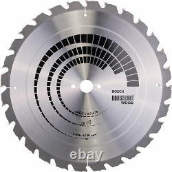 Lame De Scie De Coupe De Bois Bosch Construct Nail Proof 400mm 28t 30mm