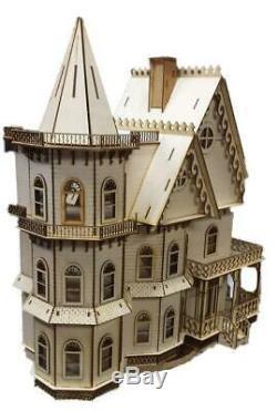 Leon Gothic Dolls Maison 148 Quartier 1/4 Pouces Échelle Laser Cut Flat Pack Kit