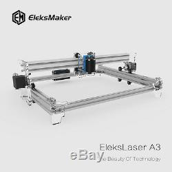 Machine De Découpe Laser Pour Gravure Eleksmaker A3 Pro 2500mw Graveur Sur Bois Usb