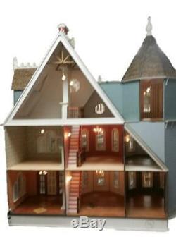 Maison De Poupées New Leon De Style Gothique Victorien Mansion 112 Laser Cut Flat Pack Bois Ki