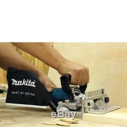Makita Biscuit Joiner Plate Joint 6 Amp Travail Du Bois Travail Emplois Aluminium Moulé Nouveau