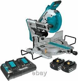 Makita Xsl06pt 18v X 2 Brushless 10 Sliding Compound Miter Saw Laser Kit Nouveau