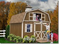 Meilleur Barns Millcreek 12x16 Bois Rangement Shed Kit All Pre-cut