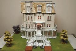Melody Jane Poupées Maison Hegeler Carus Mansion 124 Échelle Lazer Cut Kit Flat Pack