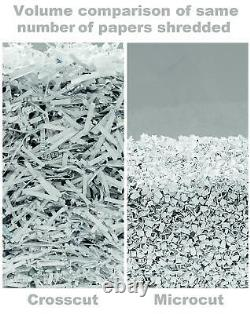 Micro Cut Paper Shredder Highy Duty Commercial Microcut Auto Feed Confetti Accueil