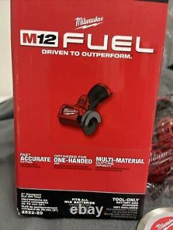 Milwaukee 2522-20 M12 Carburant 3 Découper L'outil Grinder Bare Seul Outil Neuf