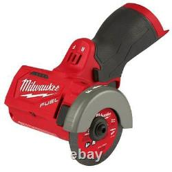 Milwaukee 2522-20 M12 Fuel 12v 3 Pouces Brushless Compact Cut Off Tool, Outil À Barres