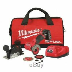 Milwaukee 2522-21xc M12 Fuel 12v 3 Compact Brushless Cut Off Outil / Scie Kit 1
