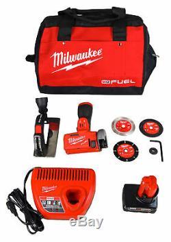 Milwaukee 2522-21xc M12 Fuel 12v Li-ion Brushless Sans Fil 3 Cut Off Kit De Scie