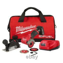 Milwaukee M12 Fuel 2522-21xc 12 Volts 3 Pouces 4.0ah Sans Fil Cut Off Tool Kit