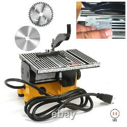 Mini 4 Table Bench Saw Electric Wood Metal Glass Cutting Tool With 2 Blades