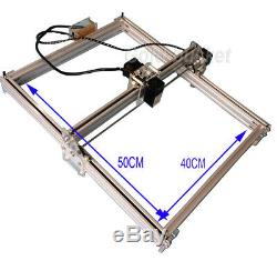 Mini Machine De Gravure Laser 40x50cm Bricolage Logo Coupe 500mw Marquage Bois Imprimante