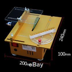 Mini Scie À Table Bricolage En Bois Machine De Découpe De Bois Portable Grinder Polisseuse Nu