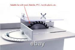 Mini Table Multifonctionnel Bricolage Scie À Faire Face À Une Épreuve De Coupe Artisanale À Bois