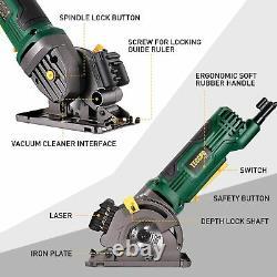 Mini-circulaire Scie Circulaire D'outils À Main Laser Coupe En Bois Et En Métal Guide Accessoire