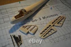 Minimoa Laser Cut Balsa Construction Flying Glider Scale Radio Control Aircraft
